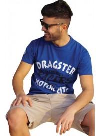 TS-6 Double Ανδρικό T-Shirt Χρώμα Μπλε ραφ