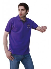 GS-180S 15 Double Polo T-Shirt Χρώμα Μωβ