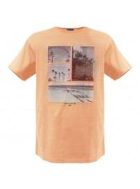 RTS-55 Rebase Ανδρικό κοντομάνικο t-shirt Χρώμα Σομόν