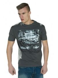 TS-16 Double Kοντομάνικο T-shirt Χρώμα Μολυβί