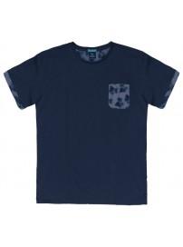TS-39A 17 Double Ανδρικό t-shirt (μεγάλα μεγέθη) Χρώμα Μπλε ραφ