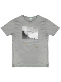 TS-53A Double Ανδρικό κοντομάνικο t-shirt (μεγάλα μεγέθη) Χρώμα Γκρι