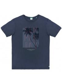 TS-53A Double Ανδρικό κοντομάνικο t-shirt (μεγάλα μεγέθη) Χρώμα Μπλε
