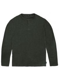 TS-144 Henley Flama Washed Long Sleeve T-Shirt (Khaki)