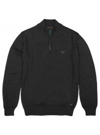 KNIT-31 Double Half-Zip Pullover Knit (black)