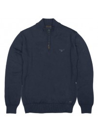 KNIT-31 Double Half-Zip Pullover Knit (navy)
