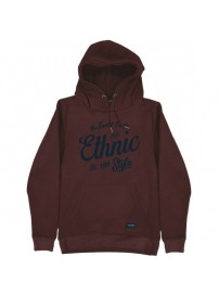MTOP-44 Double Graphic Print Hoodie (burgundy)