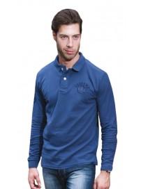 PS-183VA 15 Double Ανδρική μπλούζα πόλο (μεγάλα μεγέθη) Χρώμα Μπλε ραφ