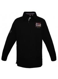 PS-205 Double Μπλουζάκι polo Jersey Χρώμα Μαύρο