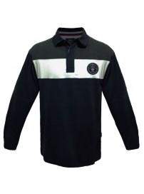 PS-206 Double Μπλουζάκι polo Jersey ριγέ Χρώμα Μπλε σκούρο