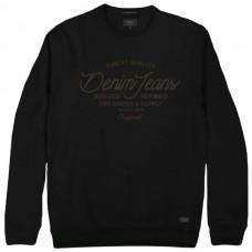 RMTOP-47VA Rebase Graphic Print Sweatshirt (μεγάλα μεγέθη)(black)
