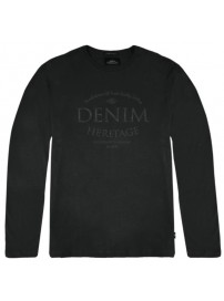 TS-106 Double T-shirts Graphic Print (black)
