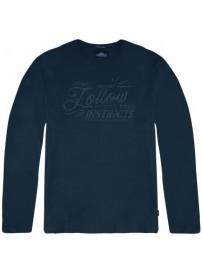 TS-106 Double T-shirts Graphic Print (indigo)