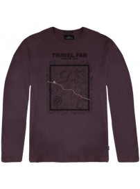 TS-106 Double T-shirts Graphic Print (wine)