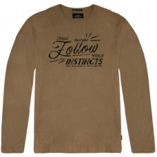 TS-106 Double T-shirts Graphic Print (camel)