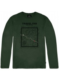 TS-106 Double T-shirts Graphic Print (dk olive)