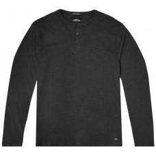 TS-107 Double T-shirt Henley Flama Washed (black)