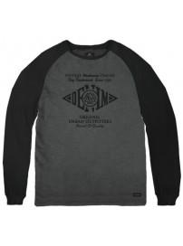 TS-111A Double T-shirt Raglan Peach Finish (μεγάλα μεγέθη)(dk grey/black)