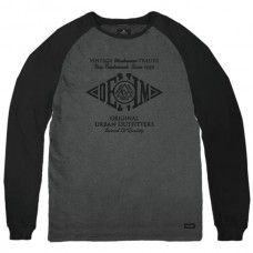 TS-111 Double T-shirt Raglan Peach Finish (dk grey/black)