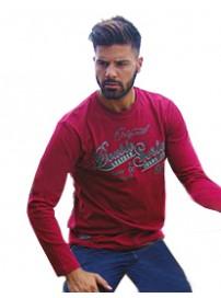 TS-12VA Ανδρικό T-Shirt (μεγάλα μεγέθη) Χρώμα Κόκκινο