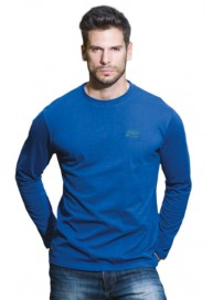 TS-23VA Double Ανδρικό T-shirt με μακρύ μανίκι (μεγάλα μεγέθη) Χρώμα Μπλε ρουά