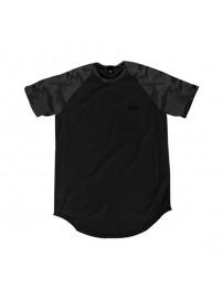 TS-102 Double All-Over Print Raglan Sleeve (black/camo dark grey)