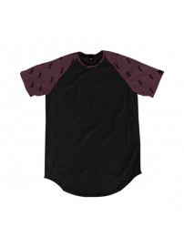 TS-102 Double All-Over Print Raglan Sleeve (black/berry)