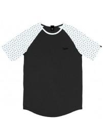 TS-119A Double T-shirt Reglan (μεγάλα μεγέθη) Χρώμα Μαύρο/Λευκό