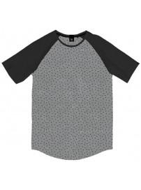 TS-119A Double T-shirt Reglan (μεγάλα μεγέθη) Χρώμα Γκρι/Μαύρο