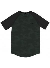 TS-119A Double T-shirt Reglan (μεγάλα μεγέθη) Χρώμα Λαδί/Μαύρο