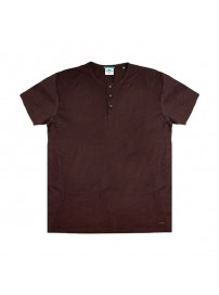 TS-84 Double T-Shirt Henley Flama (wine)