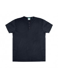 TS-84 Double T-Shirt Henley Flama (indigo)