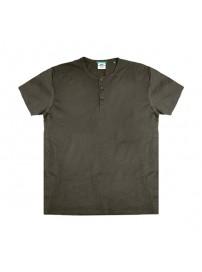 TS-84A Double T-Shirt Henley Flama (μεγάλα μεγέθη)(khaki)