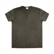 TS-84VA Double T-Shirt Henley Flama (μεγάλα μεγέθη)(khaki)