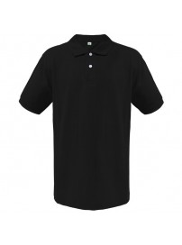 OS-BLK OS Κοντομάνικη μπλούζα polo πικέ Χρώμα Μαύρο
