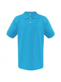 OS-SIL OS Κοντομάνικη μπλούζα polo πικέ Χρώμα Γαλάζιο