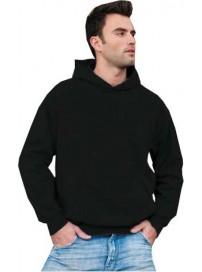 SWP-280 Keya Unisex Hooded Sweatshirt Χρώμα Μαύρο