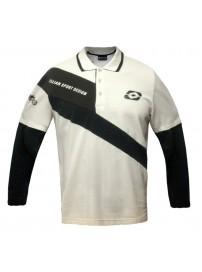 K0697 Lotto Italian Sports Design Μπλούζα Πόλο Χρώμα Μπεζ