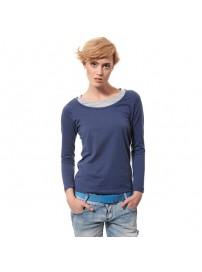 R1707 Lotto T-shirt LS Easy W denim