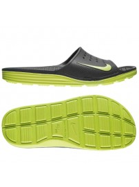 386163 077 Nike Solarsoft Slide (dark grey/volt volt)