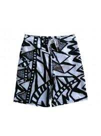 465572 100 Nike Ανδρική Βερμούδα Μαγιώ Χρώμα Άσπρο/Μαύρο