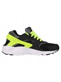 654275 017 Nike Huarache Run GS (black/volt/dark grey/white)