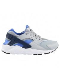 654275 022 Nike Huarache Run GS (wolf grey/binary blue)
