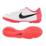 509114 106 Nike Mercurial Victory III TF JR (white/black/solar red)