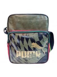 069545 03 Puma Jamaica Lifestyle Flight Bag (burned olive/black/black)