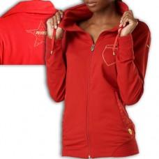 552215 01 Puma Γυναικεία ζακέτα Ferrari κόκκινη