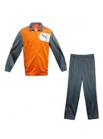 831779 03 Puma Mens Poly Suit Χρώμα Γκρι/Πορτοκαλί