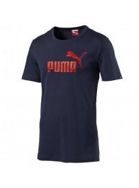 831854 06 Puma Ess No1 Logo Tee (peacoat)