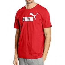 831854 75 Puma Ess No1 Logo Tee (puma red white)