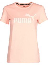 586775-26 Puma Logo Tee (Apricot Blush)